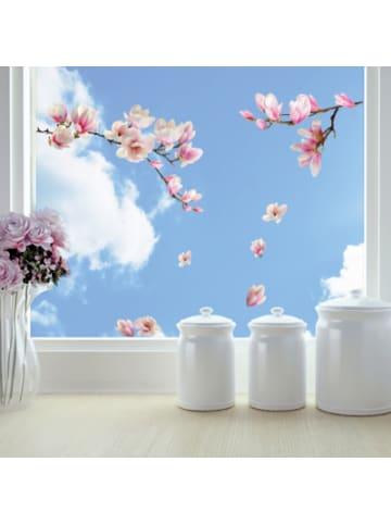 Crearreda Fenstersticker, Magnolia Blumen, 11-tlg.