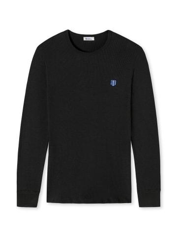 Schiesser Revival Sweatshirt in Schwarz