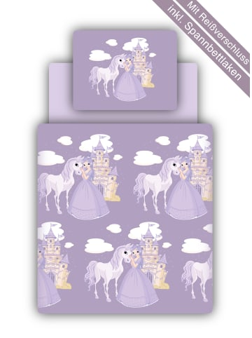 TICAA Bettwäsche Set Prinzessin in lila