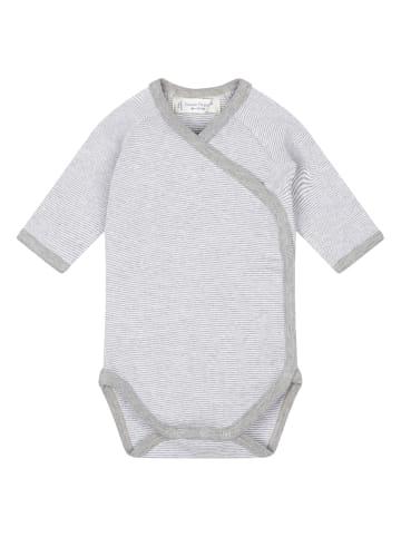 """Sense Organics Organic Baby Wickelbody """"Ygon"""" in Grau-Weiß"""