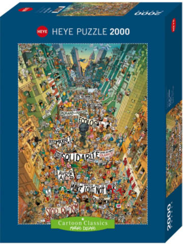 Heye Kalender Puzzle Protest! Degano, 2000 Teile