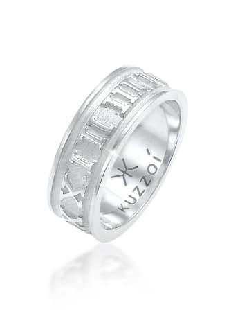 KUZZOI Ring 925 Sterling Silber Zahlen in Silber