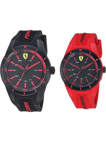 Scuderia Ferrari Analog Uhr 'Redrev' in Schwarz/Schwarz