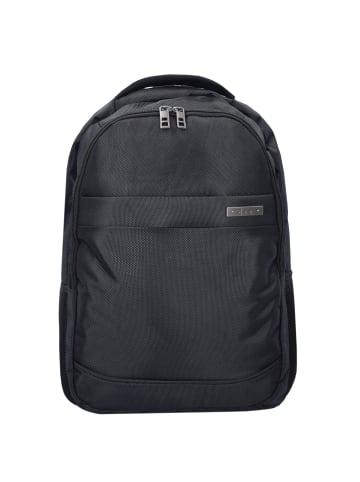 D&N Basic Rucksack 46 cm Laptopfach in schwarz