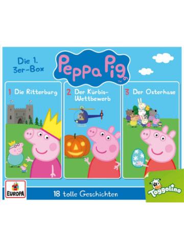 Sony CD Peppa Pig Hörspiele Box 01/3er CD-Box (Folgen 1,2,3)