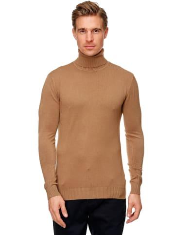 Uniplay Rollkragen Pullover Longsleeves Viskose Stretch in Braun