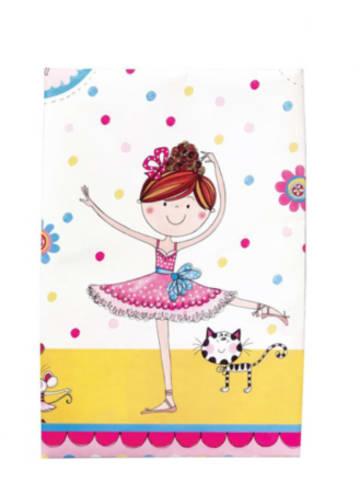 Partystrolche Kunststoff-Tischdecke 120 x 180 cm Kleine Ballerina