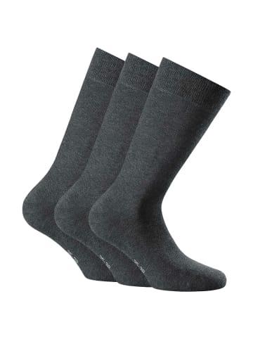 Rohner Socken 3er Pack in Anthrazit