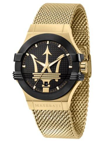 Maserati Herren-Armbanduhr Potenza Schwarz / Gold