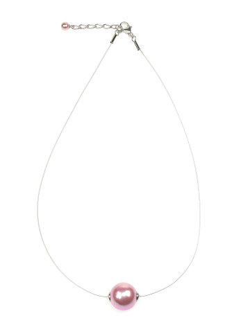 Perlas Orquidea  Perlenkette The Floating Pearl Pink in rosa