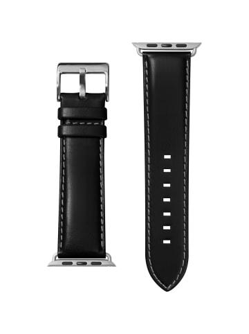 """Laut Armband """"Oxford Noir"""" für Apple Watch 38mm in schwarz"""