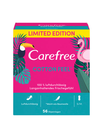 """Carefree Slipeinlagen """"Cotten Feel"""" Limited Edition ‒ 280 Stück (5x 56er-Pack)"""