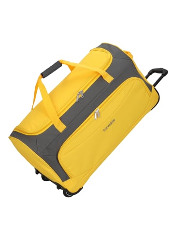 Travelite Garda Pop XL Rollenreisetasche mit Trolley-Funktion 72 cm in gelb