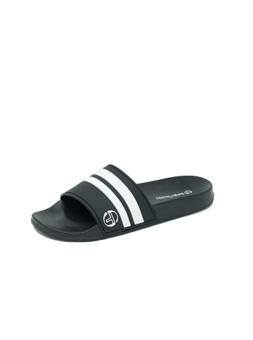 Sergio Tacchini SLIPPER LIAM SLIPPERS in black/white