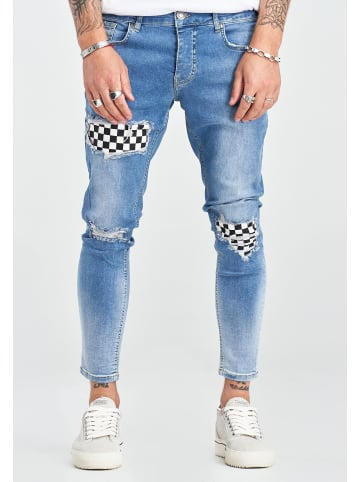 2Y Jeanshose CHECK in blau