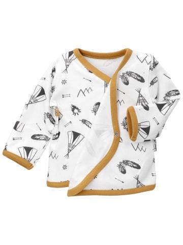 Bamar Nicol Shirt Langarm Indian - by Bamar Nicol in weiß senfgelb
