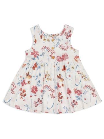 Panco Kleider - mit Blumenmuster - für Mädchen in Weiß