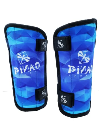 PiNAO Sports Fußball-Schienbeinschoner Kinder in blau-schwarz