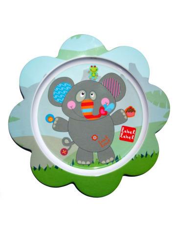 Label-Label  Friends Teller blumenförmig Elefant