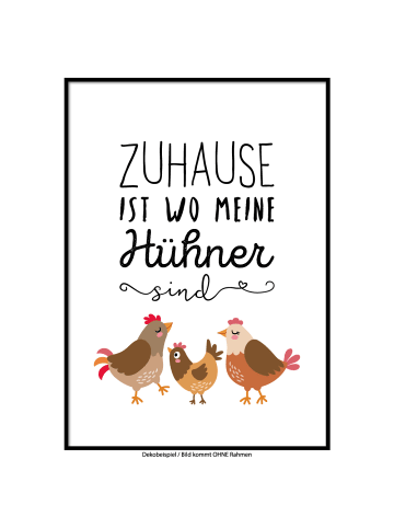 "SMART ART Kunstdrucke Kunstdruck / Poster ""Meine Hühner"" / A4 oder A3"