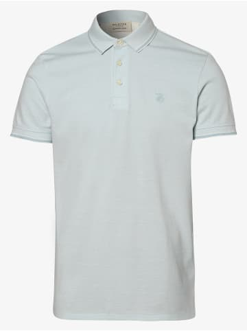Selected Poloshirt in hellblau