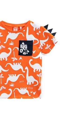 Mamino Kindermode Jungen T-Shirt -Big one in orange