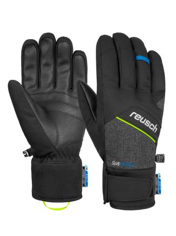 Reusch Fingerhandschuh Luke R-TEX® XT in black melange/safety yell.