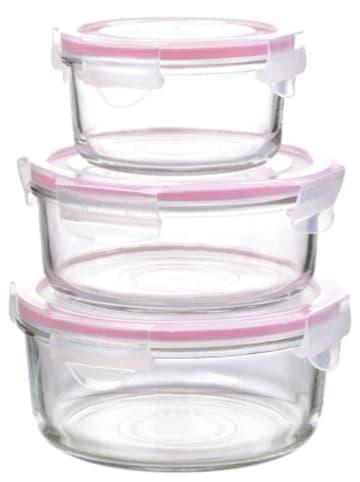 Glasslock 3-tlg. Frischhaltedose-Set rund