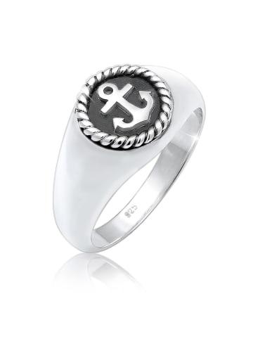 KUZZOI Ring 925 Sterling Silber Anker in Silber