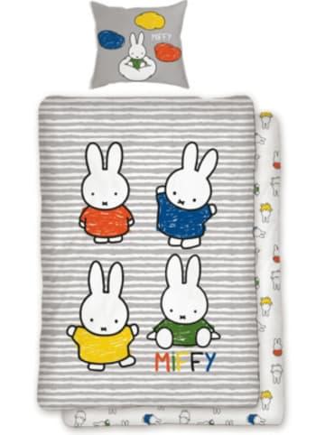 SkyBrands Wende-Kinderbettwäsche Miffy, Renforcé, 135 x 200 cm