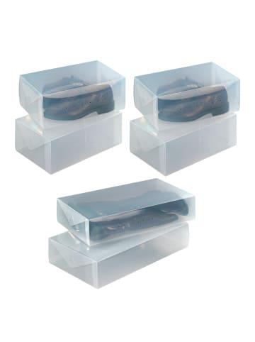 Wenko Aufbewahrungsbox für Schuhe und Stiefel, 6-teilig, Transparente Schuhaufbewahrung, 6-tlg. in Transparent