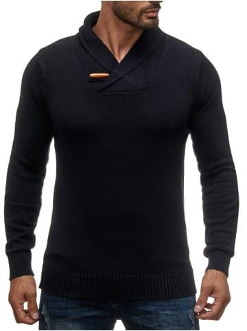 Sky Rebel Strickpullover Longsleeve Shirt H1382 in Schwarz