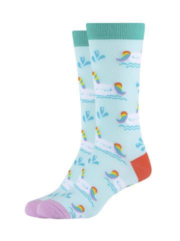 Fun Socks 2er-Pack Damen Crew Socks in Sky Blue - 451