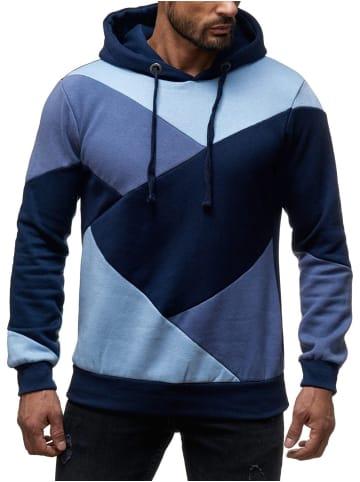 Sky Rebel Sweater Hoodie Kaputzen Pullover in Blau