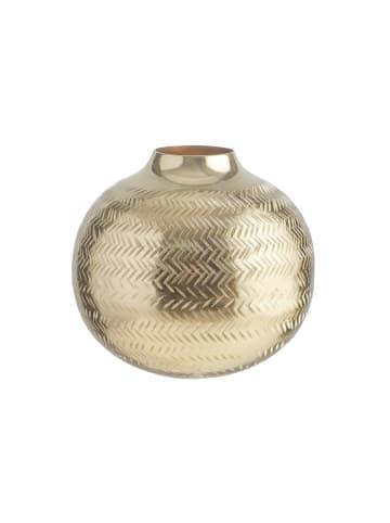 Butlers Vase bauchig Höhe 15cm BALI in gold