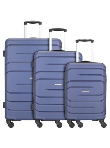 Nowi Milano 5.0 4-Rollen Kofferset 3tlg. in blau