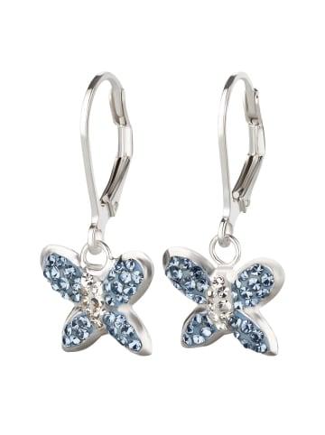 Schmuck23 Ohrringe 925 Silber Schmetterling in Blau