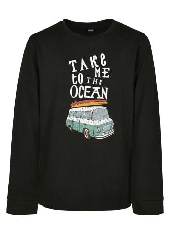 Mister Tee T-Shirt  Take Me To The Ocean Longsleeve in Black