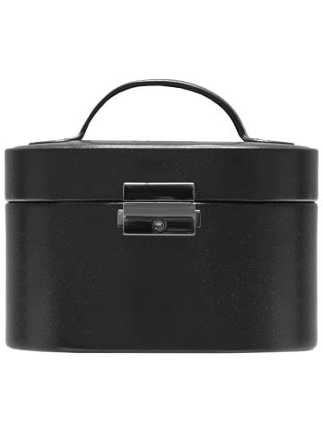 Windrose Merino Schmuckkoffer 15 cm in schwarz