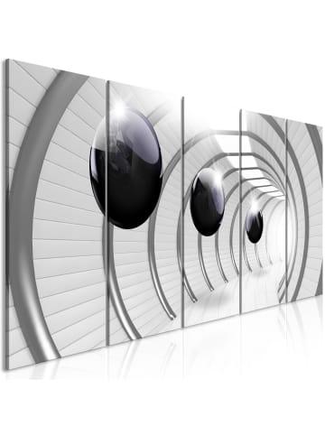 Artgeist Wandbild Space Tunnel (5 Parts) Narrow in schwarz-weiß