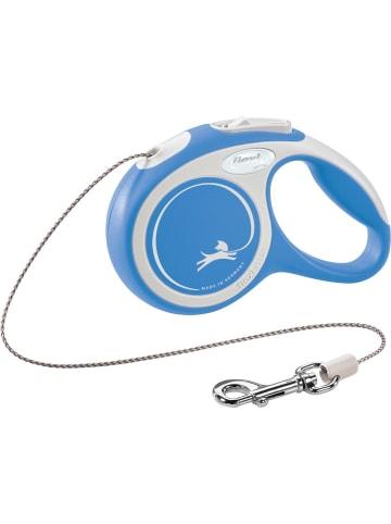 Flexi New Comfort Seil Rollleine S: 8 m, blau, bis zu 12kg