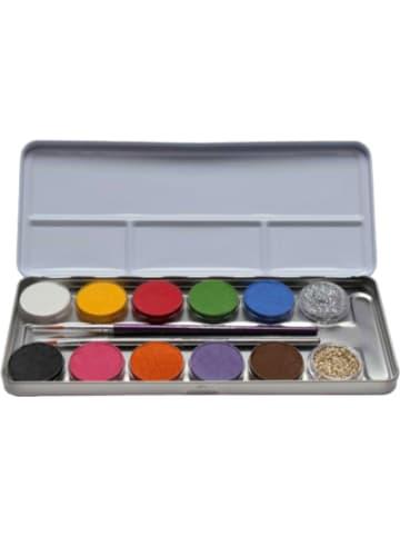 Eulenspiegel Schminkpalette Metall, 10 Farben