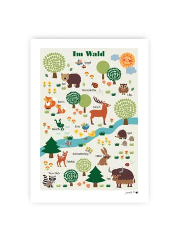 ByGraziela  Poster, Im Wald, 50 x 70 cm