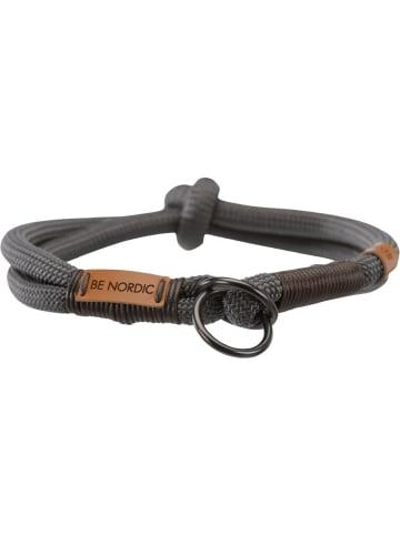 TRIXIE BE NORDIC Zug-Stopp-Halsband S - M: 40 cm/ø 8 mm, dunkelgrau/braun