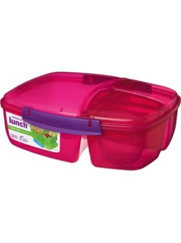 Sistema Triplesplit Lunchbox, 3-fach unterteilt, pink