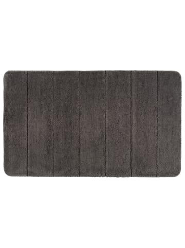 Wenko Badteppich Steps Mouse Grey, 70 x 120 cm, Mikrofaser in Grau