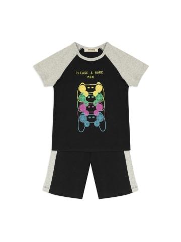 Panco Pyjama - mit Textdruck - für Jungen in Schwarz
