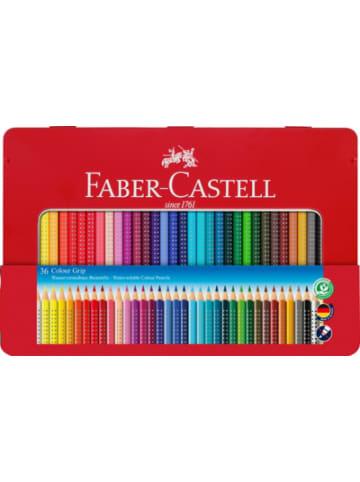 Faber-Castell Buntstifte COLOUR GRIP wasservermalbar, 36 Farben, Metalletui