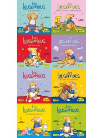 Carlsen Pixi Bücher, 219 Pixi-8er-Set 219: Leo Lausemaus (8x1 Exemplar), 8 Teile