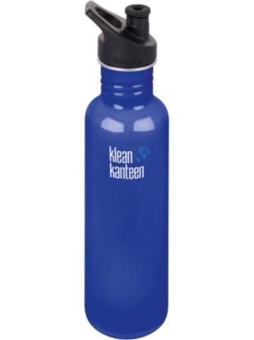 Klean Kanteen Edelstahl-Trinkflasche ® Classic Coastal Waters, 800 ml, Sport Cap